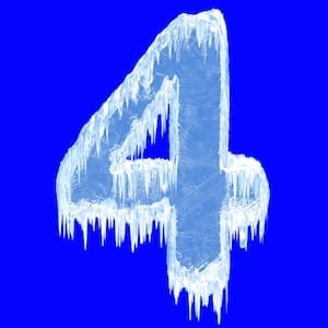 Number 4 Icy Photo
