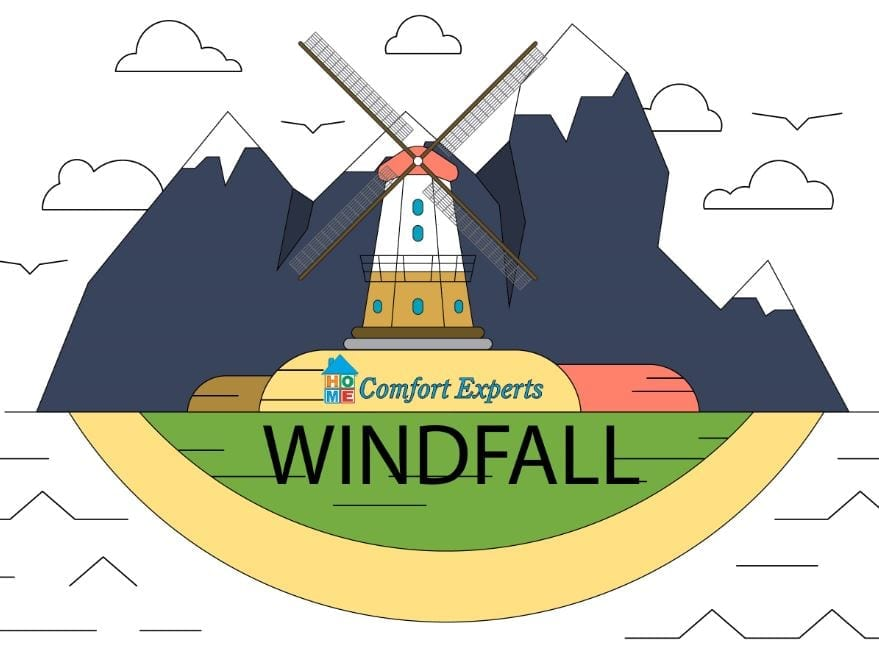 An illustration of a windmill | Windfall Referral Program